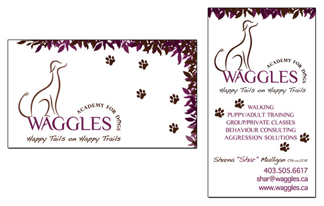 Waggles business card design